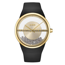 "Load image into Gallery viewer, ""New"" o.d.m. DD178-02 Women Swarovski Crystal Transparent Dial Wristwatch"