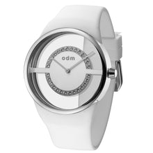 "Load image into Gallery viewer, ""New"" o.d.m. DD182-01 Women Swarovski Crystal Transparent Dial Wristwatch"