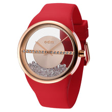 "Load image into Gallery viewer, ""New"" o.d.m. DD178-03 Women Swarovski Crystal Transparent Dial Wristwatch"