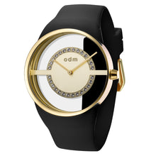 "Load image into Gallery viewer, ""New"" o.d.m. DD182-02 Women Swarovski Crystal Transparent Dial Wristwatch"