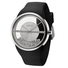 "Load image into Gallery viewer, ""New"" o.d.m. DD178-05 Women Swarovski Crystal Transparent Dial Wristwatch"