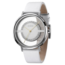 "Load image into Gallery viewer, ""New"" odm DD177-01 Women White Swarovski Crystal Transparent Dial Fashion Watch"