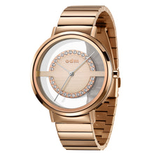 "Load image into Gallery viewer, ""New"" odm DD177-05 Women Swarovski Crystal Transparent Dial Fashion Watch"