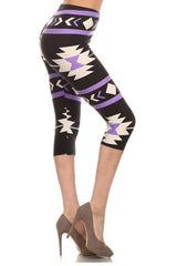 aztec capri leggings