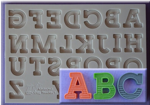 Gradient Font Letters by Alphabet Moulds Ready Silicone Mold