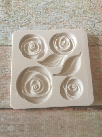 Roses Ready Silicone Mold $5