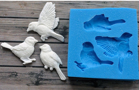 Birds Ready Silicone Mold $5