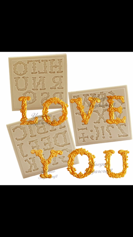 Love Font Alphabet Ready Silicone Mold