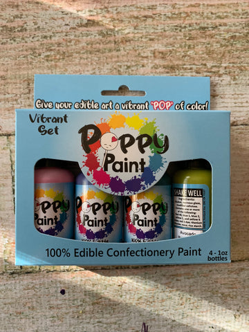 4 piece Vibrant Poppy Paints Set