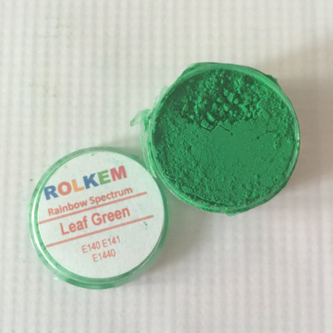 Rolkem Rainbow Spectrum Leaf Green Edible Dust Paint on Chocolate