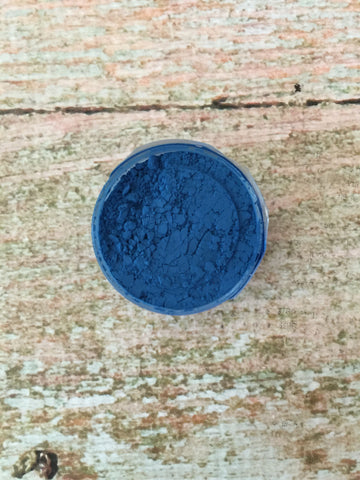 Rolkem Rainbow Spectrum Royal Blue Edible Dust Paint on Chocolate