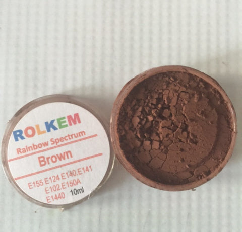 Rolkem Rainbow Spectrum Brown Edible Dust Paint on Chocolate