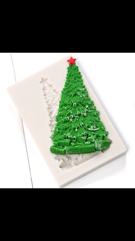 Christmas Tree With Presents Ready Silicone Mold 5 Party Train