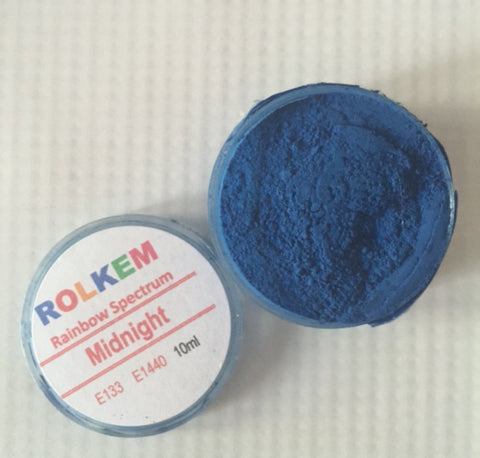Rolkem Rainbow Spectrum Midnight Edible Dust Paint on Chocolate