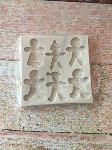Gingerbread Family Ready Silicone Mold