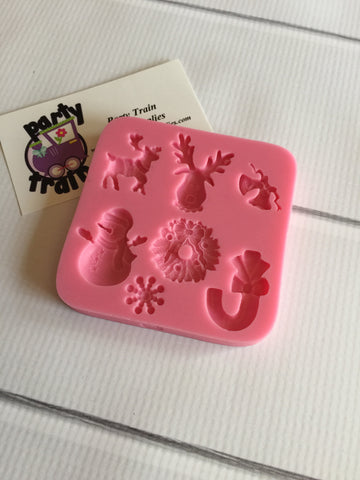 Christmas Assortment #2 Ready Silicone Mold $5