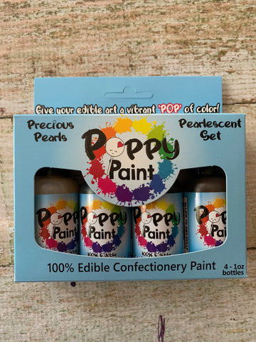 4 Piece Pearls Poppy Paints Set