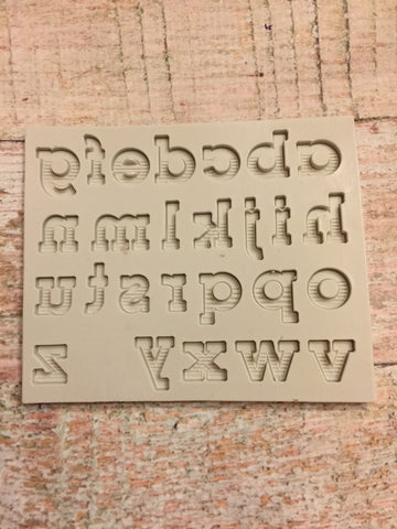 Gradient Font Lower Case Ready Silicone Mold $5