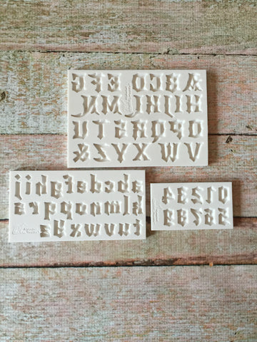 Gothic Font Set by Alphabet Moulds Ready Silicone Mold