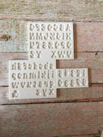 Fun Font Set by Alphabet Moulds Ready Silicone Mold