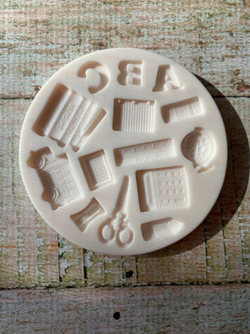 School Accessories Ready Made Silicone Mold