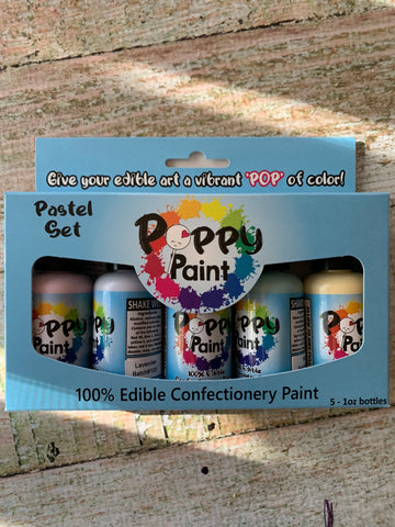 5 piece Pastel Poppy Paints Set