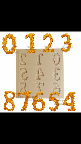 Love Font Numbers Ready Silicone Mold