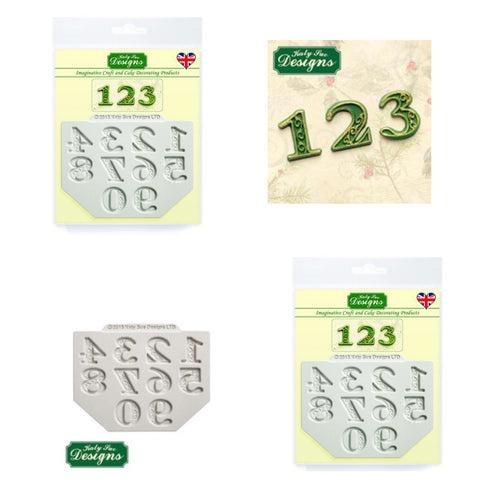 Manuscript Numbers By Katy Sue Ready Silicone Mold
