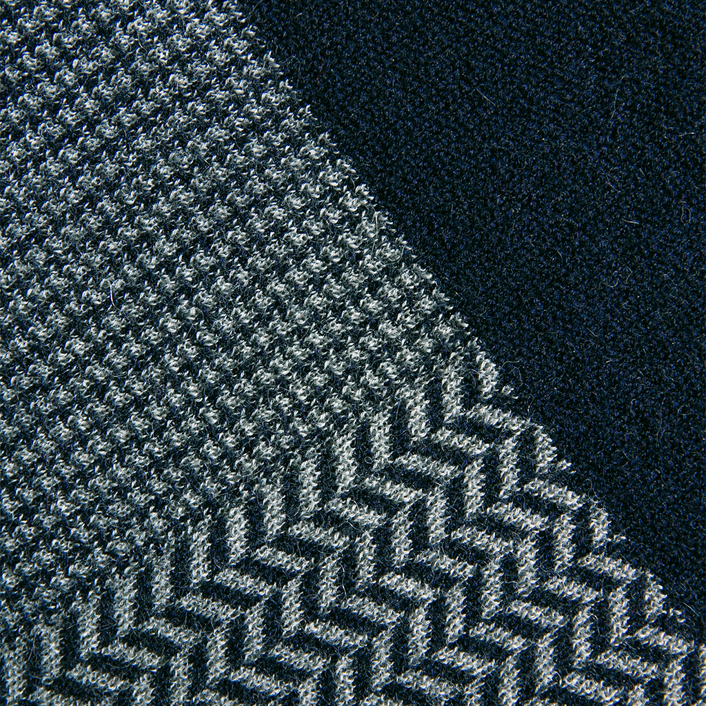 New Amsterdam Throw in Navy/Gray