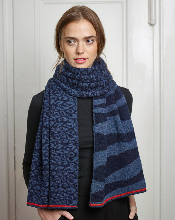Sainte Anne Wrap in Navy/Denim