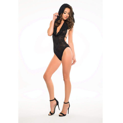 All Out There Open Cup Dress - Black M/L