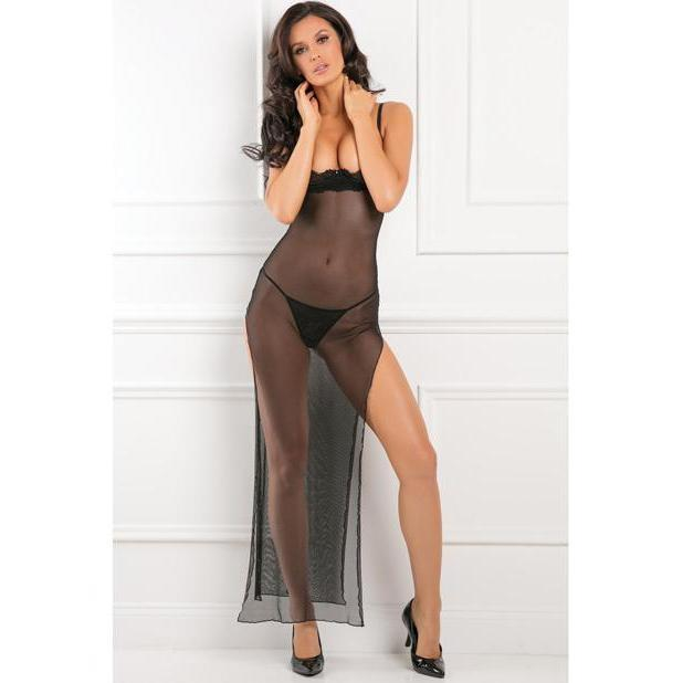 Rene Rofe-All Out There Open Cup Dress - Black M/L-DRESSES