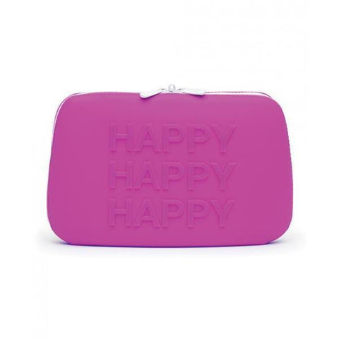 Happy Rabbit Wow Small Pink Silicone Zip Storage Bag