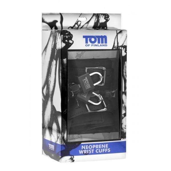 XR Brands-Tom Of Finland Neoprene Wrist Cuffs With Locks-3