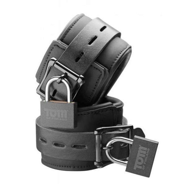 XR Brands-Tom Of Finland Neoprene Wrist Cuffs With Locks-1
