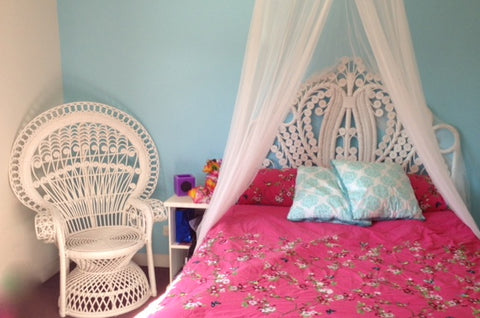 Balinese Rattan Chair and Headboard