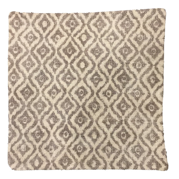 Dhurrie Cushion Hild Taupe