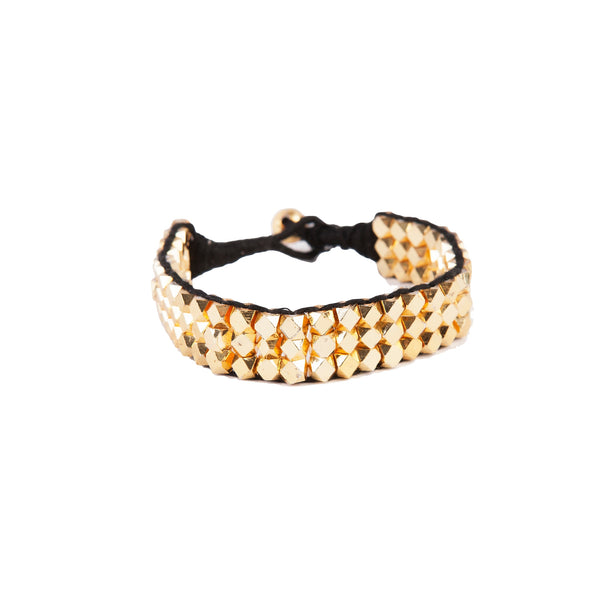 Goldplated Metal Bracelet 3 Strand
