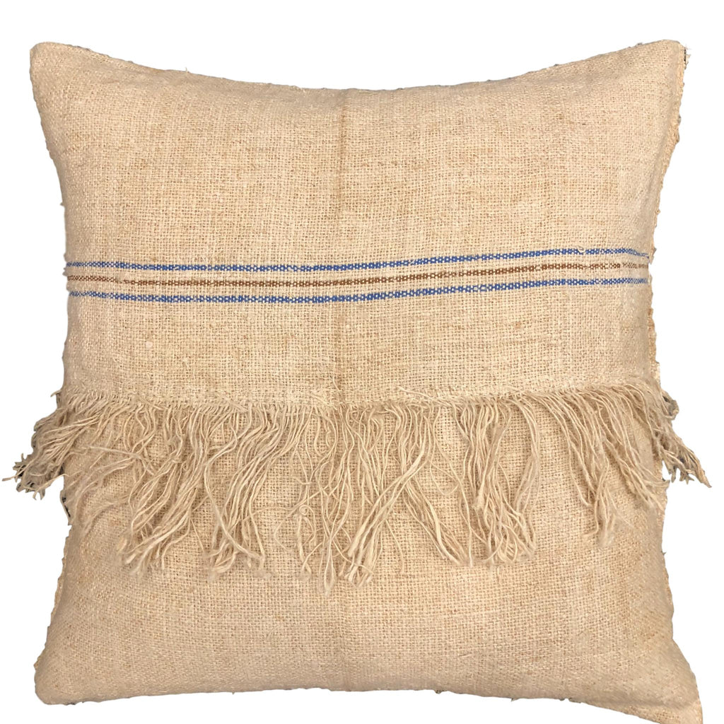 Vintage Linen Cushion with Stripe