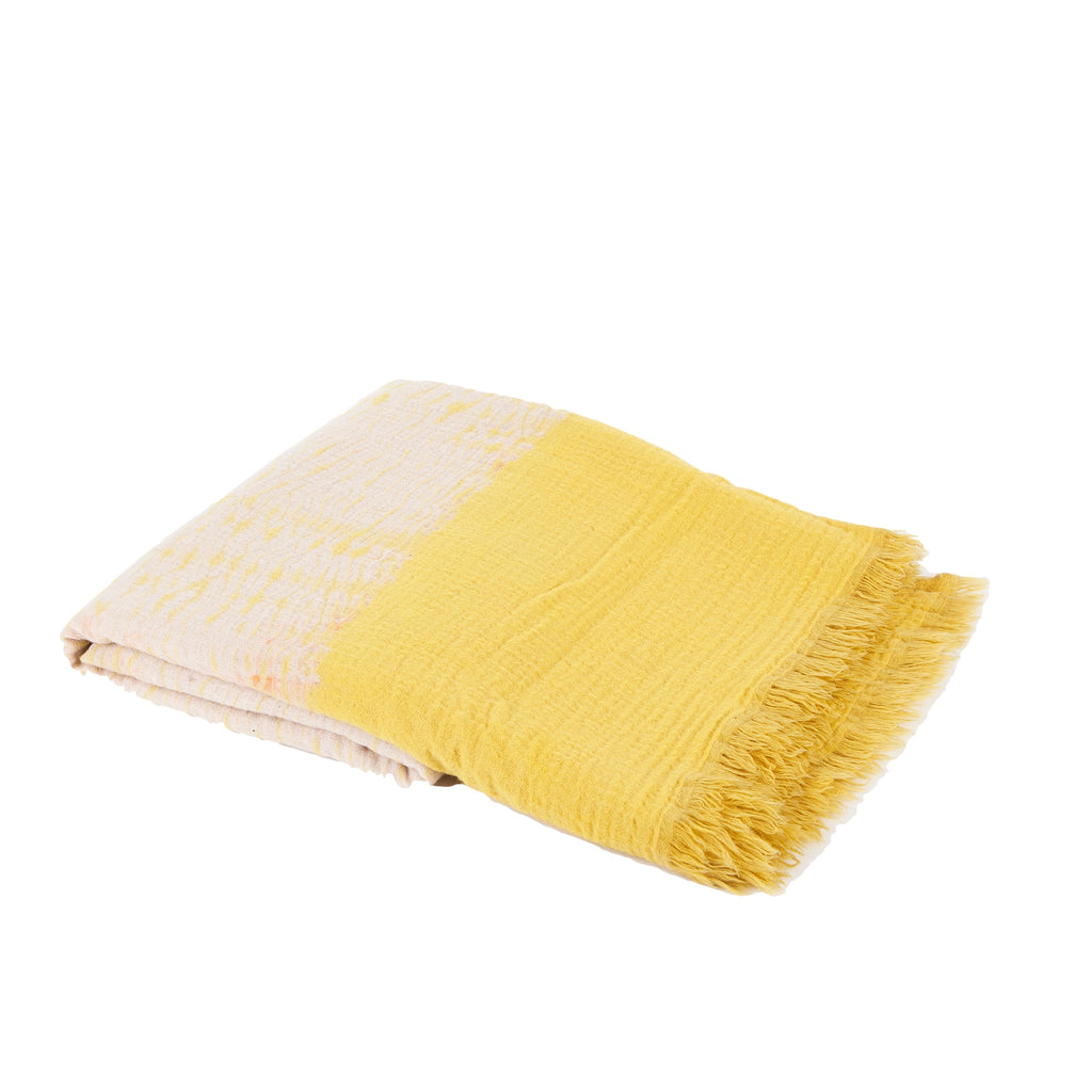 Boiled Wool Blanket Tie-Dye