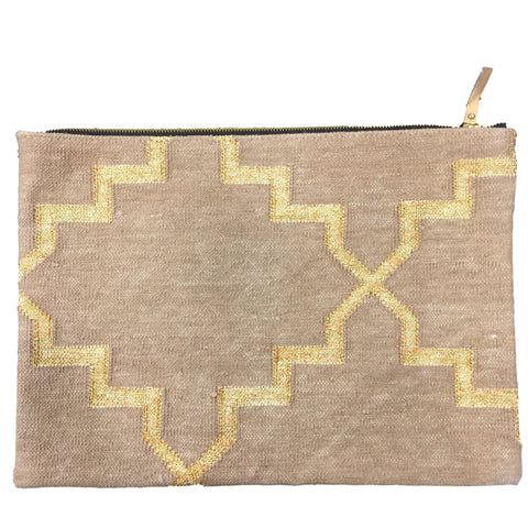 Woven/Gold Ipad/Laptop Bag