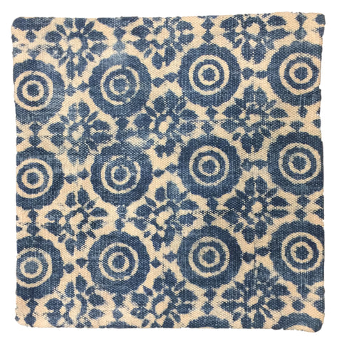Dhurrie Cushion Saga Indigo