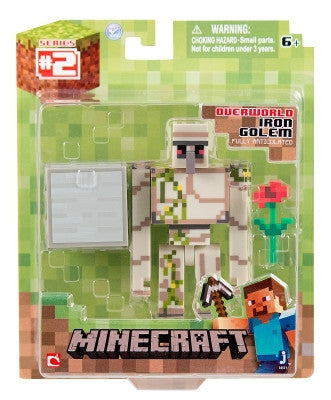 Minecraft Core Iron Golem Action Figure with Accessory