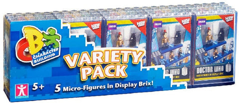 Doctor Who Micro-Figures in Display Brix Variety (Pack of 5)