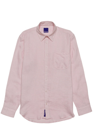 Pink Linen Button Down