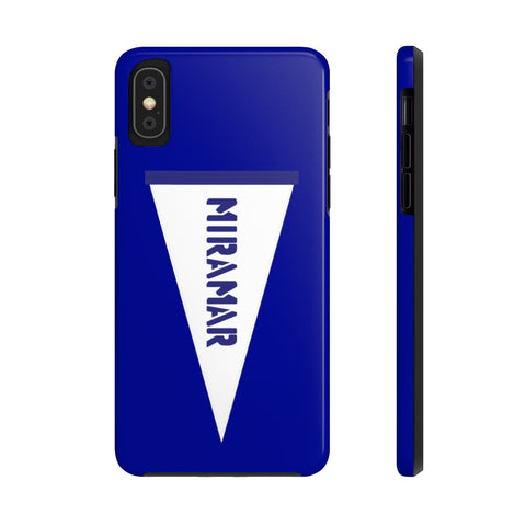 Miramar White Flag Blue Mate Tough Phone Cases