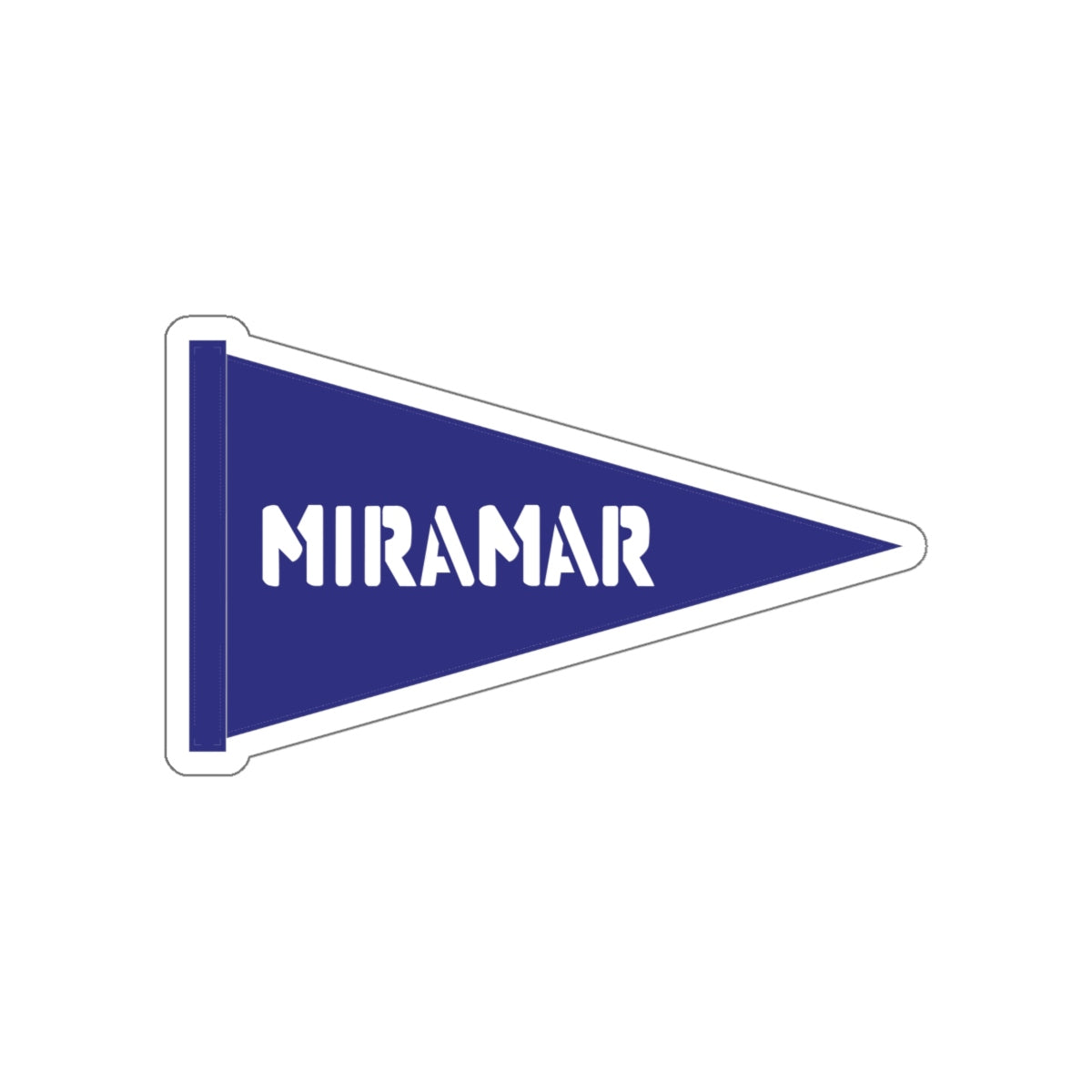 Miramar Flag Kiss-Cut Stickers
