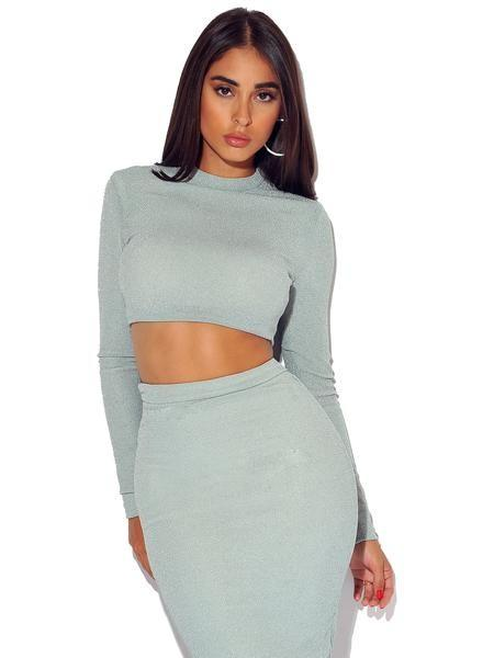 Nini Sparkle Crop Top - Tops - Marsia