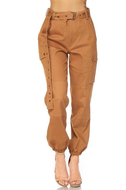 No Limit Jogger Cargo Pants In Camel - Pants - Marsia