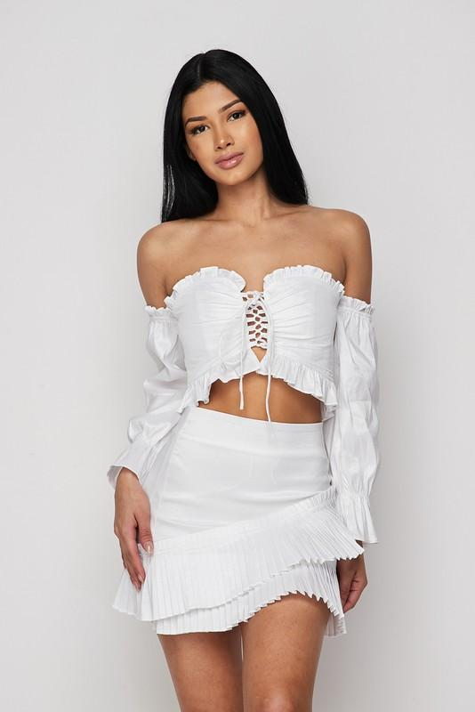 Blanca Ruffle Skirt Set